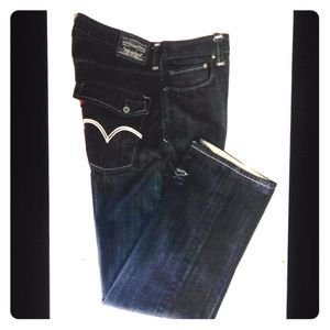 Levi's 569 Loose Straight Fit Destroyed Zip Jeans